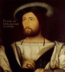 Portrait de Claude de Lorraine, premier duc de Guise (1496-1550). Peinture de Jean Clouet (1486-1540). Galerie Palatine, Florence
