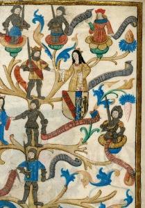 Genealogia Renati II, ducis Lotharingiae, détail. © Paris, Bibl. de l'Institut de France, ms. 0679