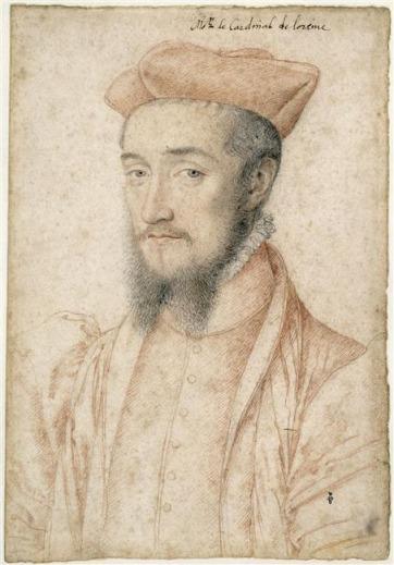 François Clouet, Charles, cardinal de Lorraine,1555 © Ojéda/RMN-Grand Palais (domaine de Chantilly)