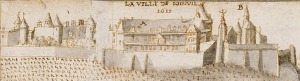 La ville de Joinville, détail : le château. Lallemant de Betz, 1611 © BnF, Paris