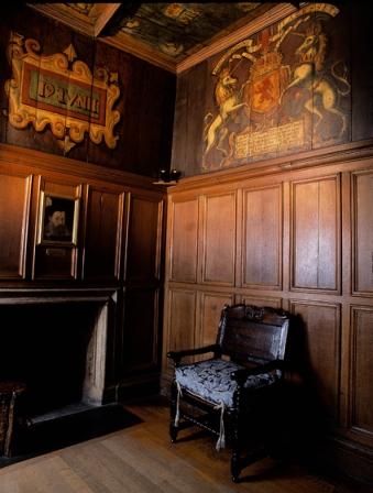 La chambre de naissance de Jacques VI au château d'Édimbourg.