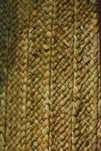 Rush wall matting, Azay-le-Rideau (France). © A.B.