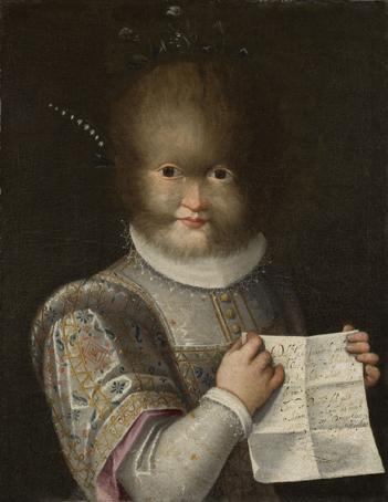 Portrait d'Antonietta Gonzalez ou Gonsalvus, vers 1594-1595