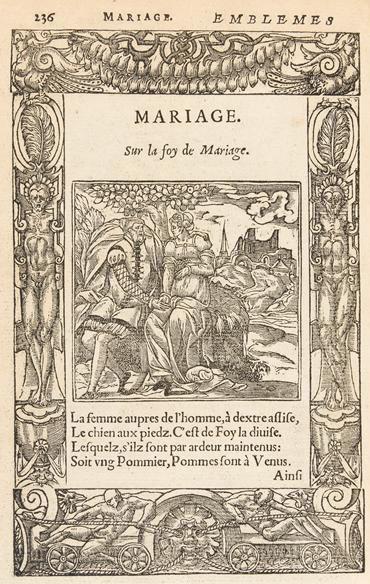 "Page 236. Mariage : ""Sur la foy du mariage"""