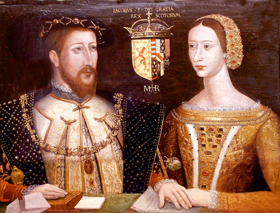 double portrait of James V and Mary of Guise now in the collection of the Duke of Atholl at Blair Castle in Perthshire