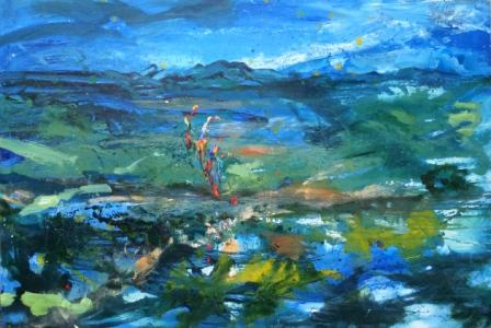 The Keys of the Whole of Scotland' web size oil on board 122cms x 81cms